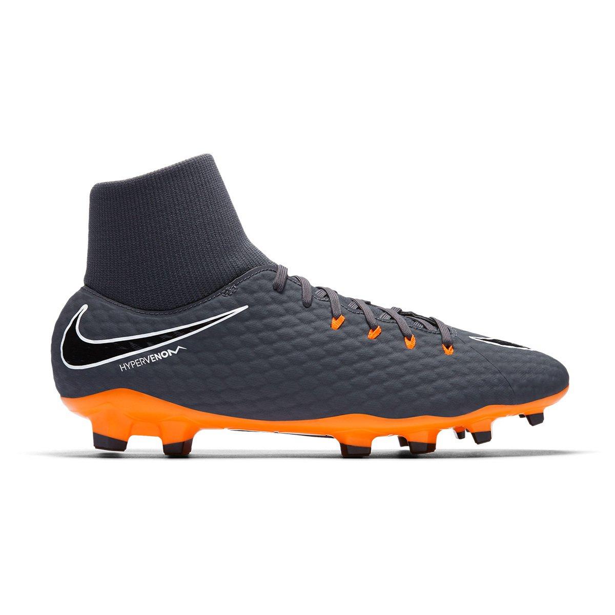 3bdd0100cd0fb Chuteira Campo Nike Hypervenom Phantom 3 Academy DF FG - Cinza e Laranja -  Compre Agora