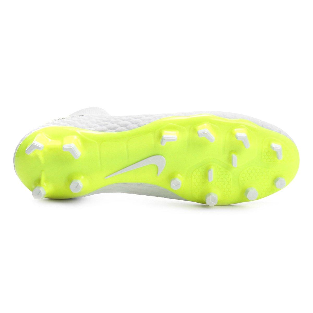 Chuteira Campo Nike Hypervenom Phantom 3 Academy DF FG - Branco e ... 085c8bd723c77
