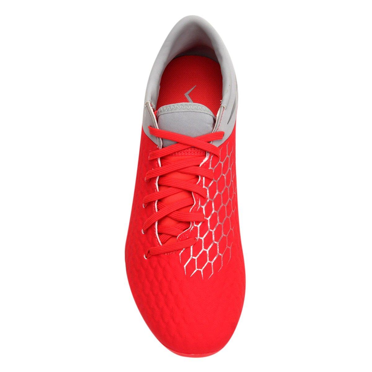 Chuteira Phantom Masculina FG 3 Nike Cinza Hypervenom Campo Vermelho Academy e Uq7fp