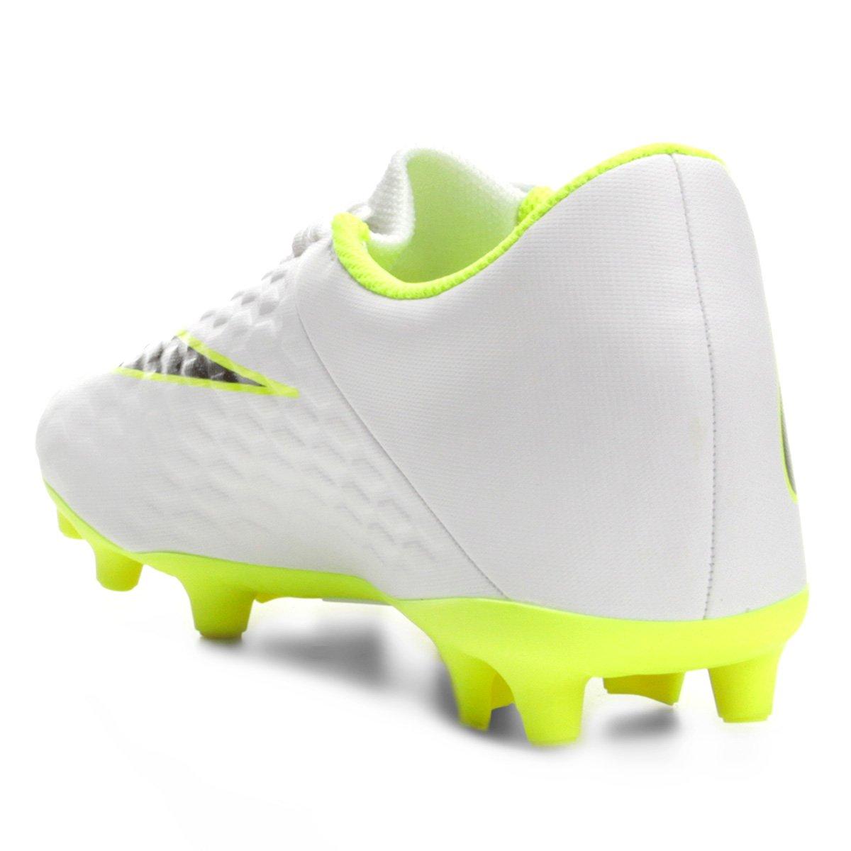Hypervenom Chuteira e Branco Cinza Masculina Nike Phantom 3 Club Campo FG qUpU1A