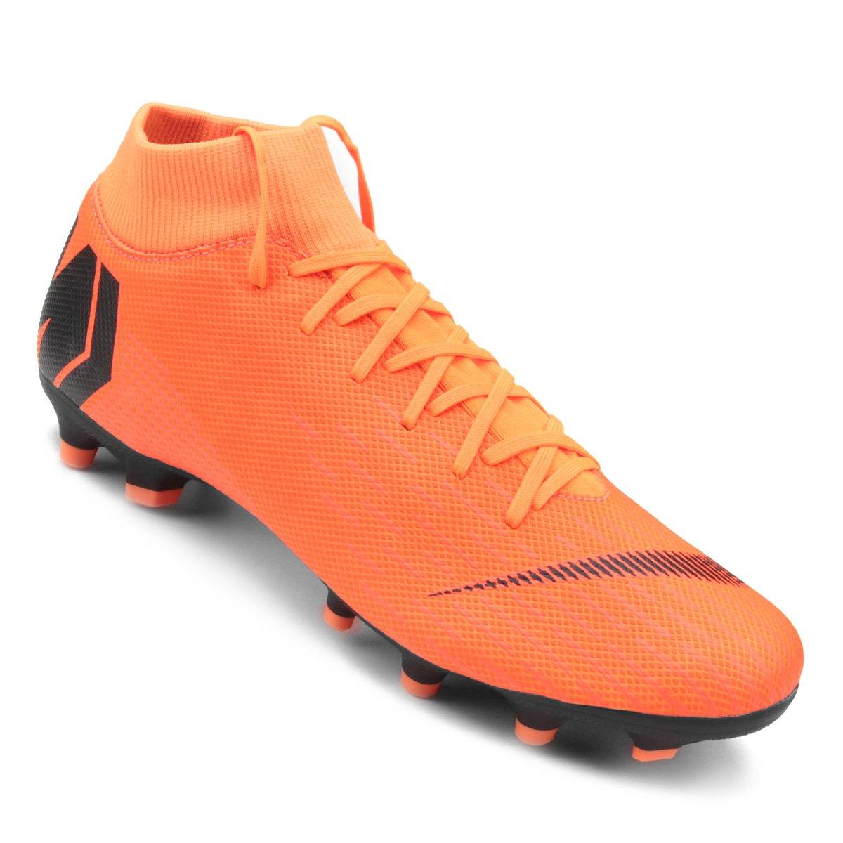 wholesale dealer 41ecc 98f12 Chuteira Campo Nike Mercurial Superfly 6 Academy - Laranja e Preto