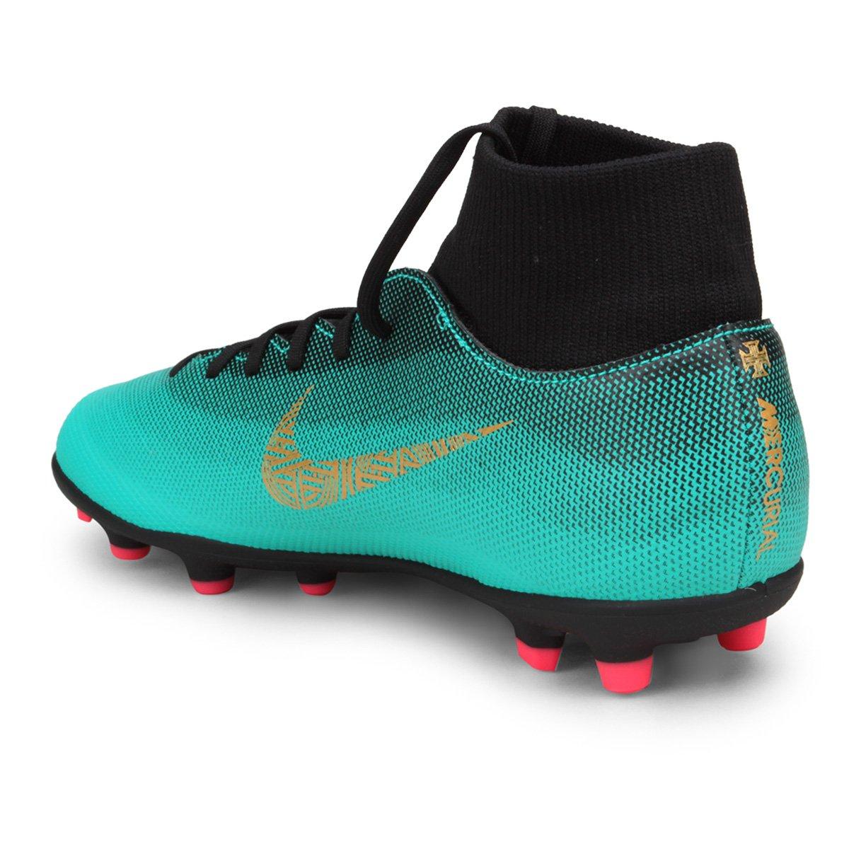 Chuteira Campo Nike Mercurial Superfly 6 Club CR7 MG - Verde água ... ba9ec53e2138a