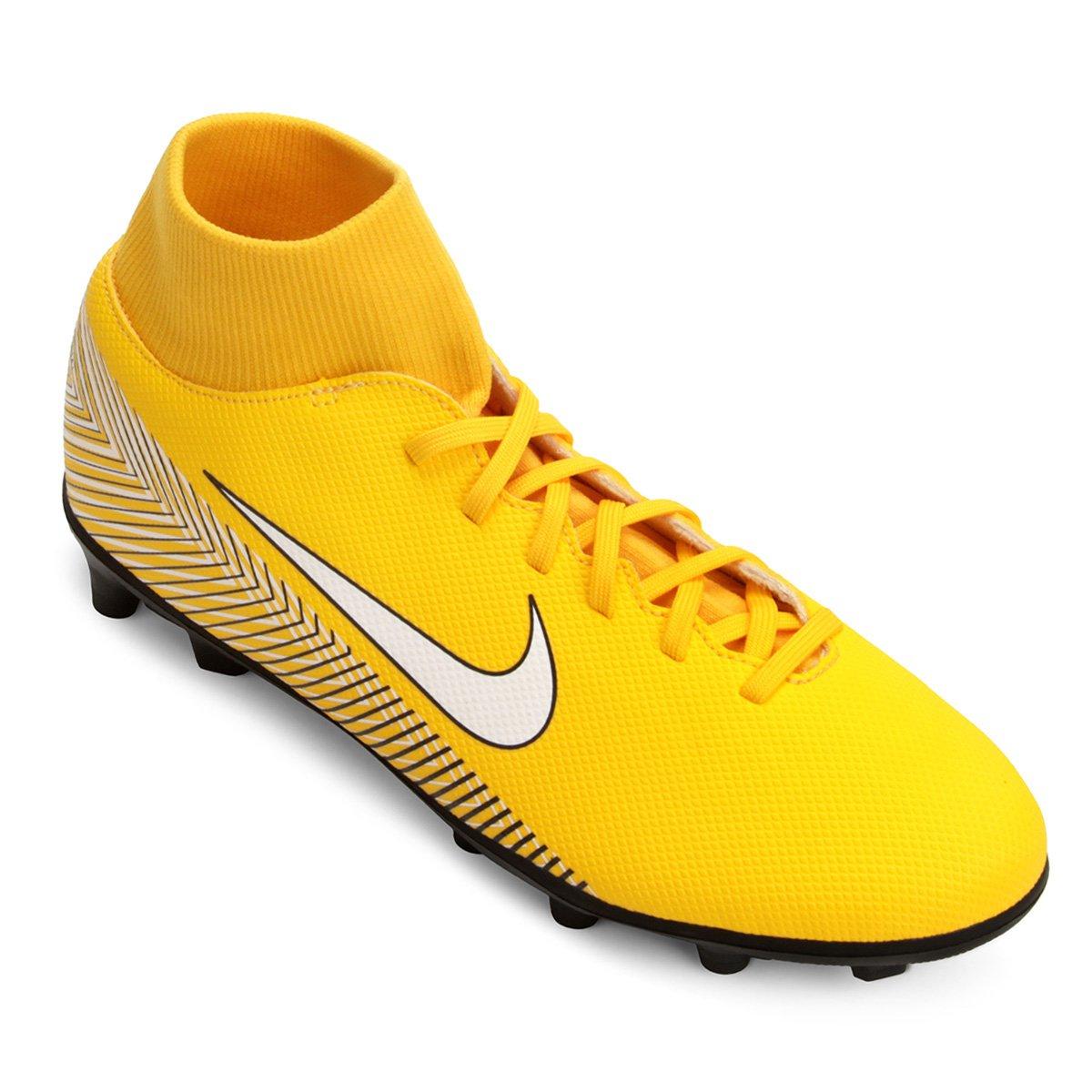 ebab14fb5e429 Chuteira Campo Nike Mercurial Superfly 6 Club Neymar FG - Amarelo e Preto |  Netshoes