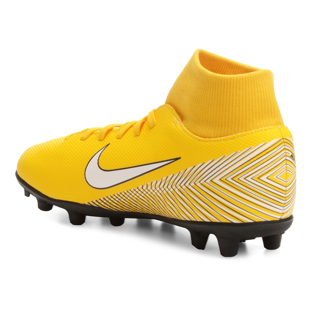 Chuteira Campo Nike Mercurial Superfly 6 Club Neymar FG - Amarelo e ... 2b1de168c6211