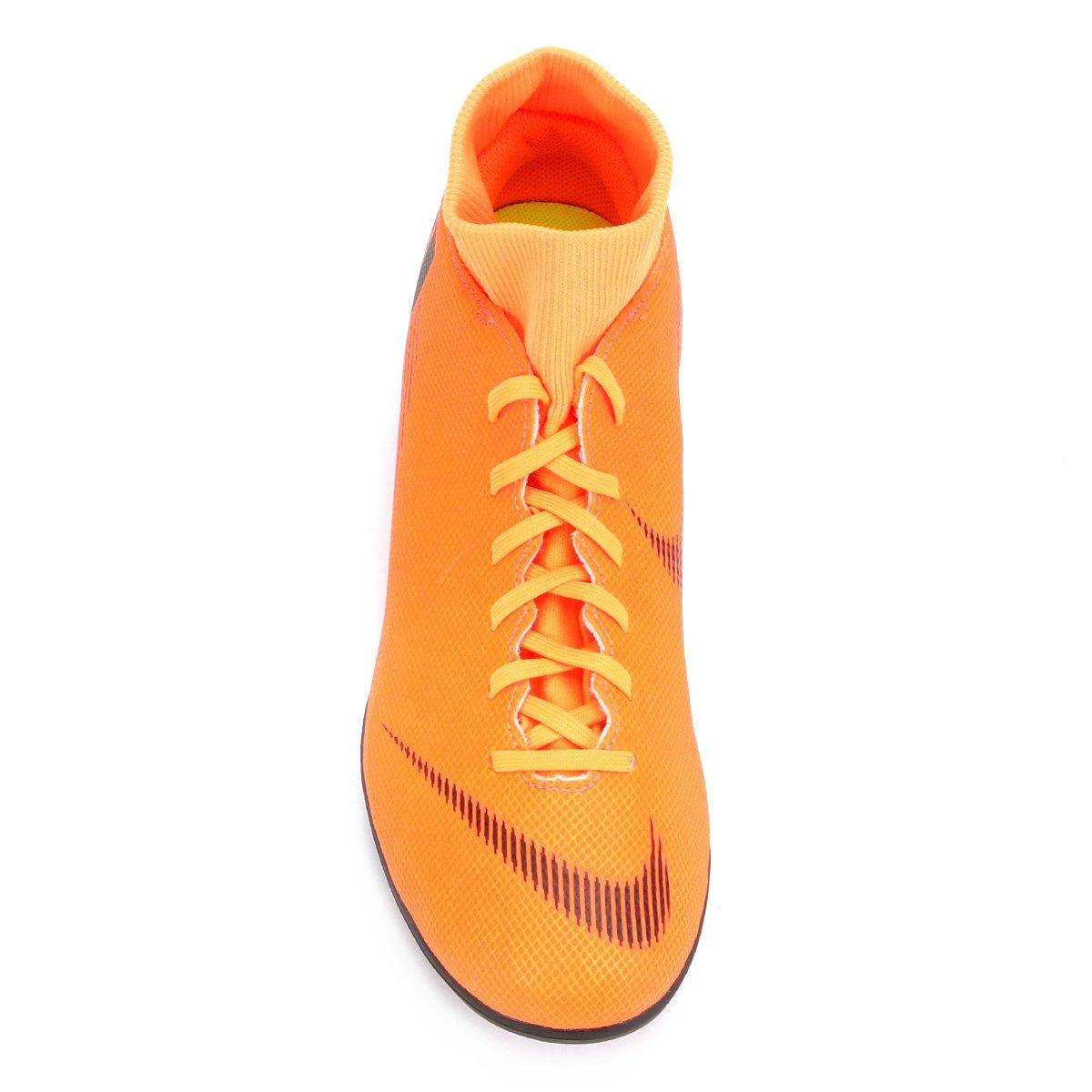 Chuteira Campo Nike Mercurial Superfly 6 Club - Laranja e Preto ... 144a8d6e4e4aa