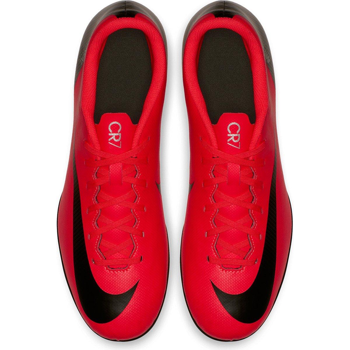4eb4fe5ada Chuteira Campo Nike Mercurial Vapor 12 Club CR7 FG - Vermelho e ...