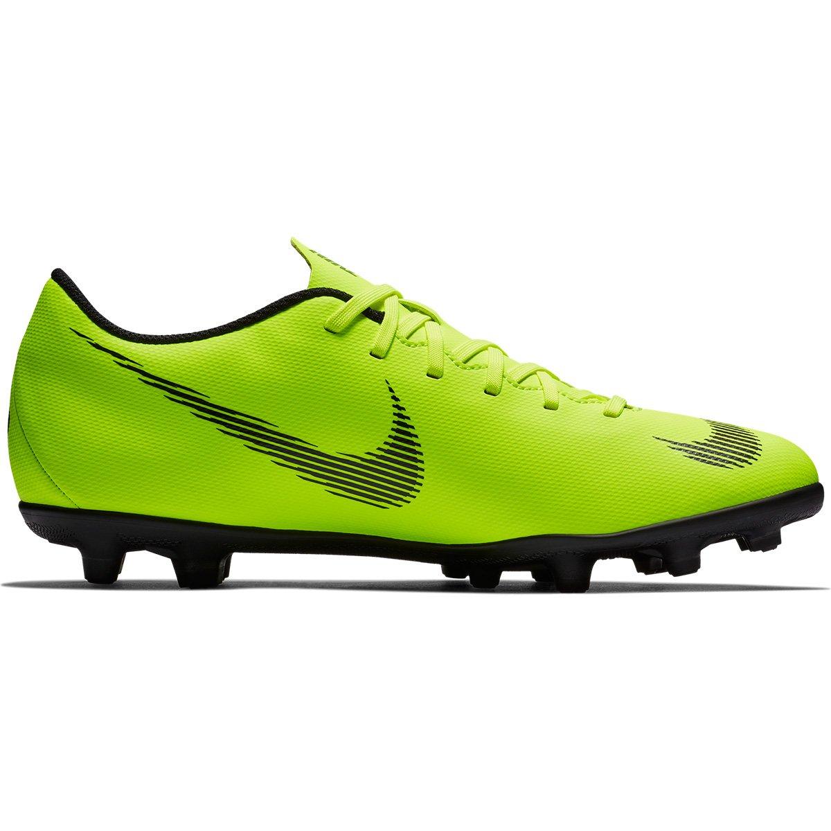 5272f4decde39 Chuteira Campo Nike Mercurial Vapor 12 Club - Verde e Preto - Compre Agora
