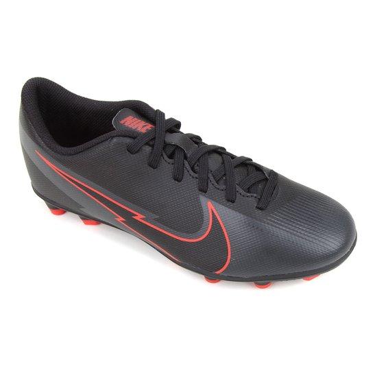Chuteira Campo Nike Mercurial Vapor 13 Club FG - Preto+Chumbo
