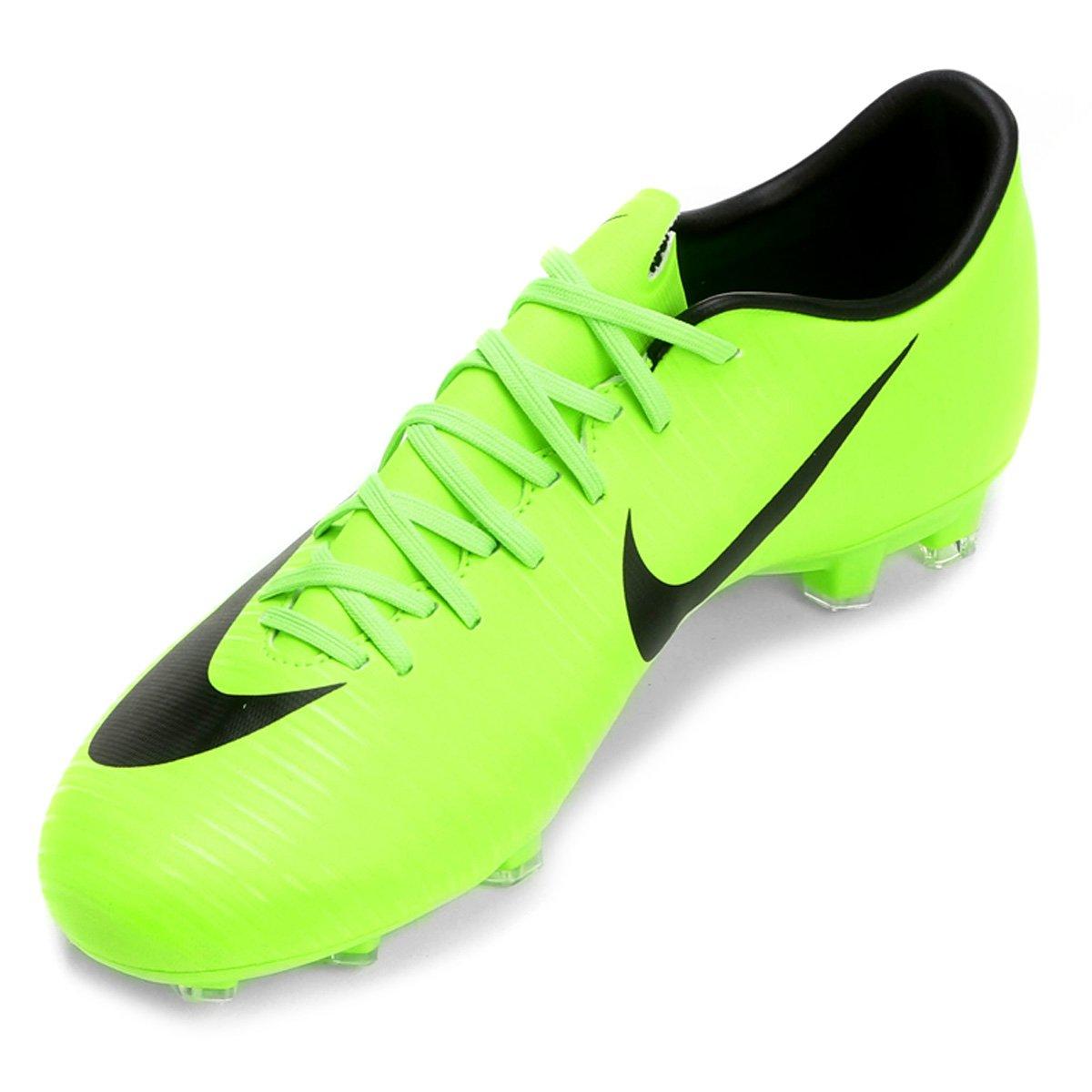 Chuteira Campo Nike Mercurial Victory 6 FG - Verde Limão - Compre ... fdfe71862a41f