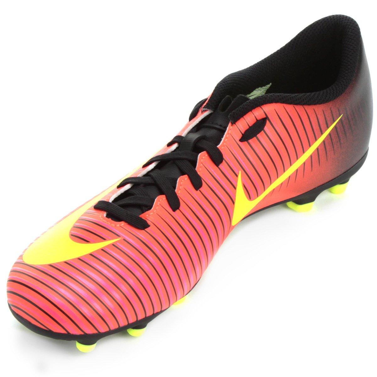 Chuteira Campo Nike Mercurial Vortex 3 FG - Laranja - Compre Agora ... 3efd534b96b14