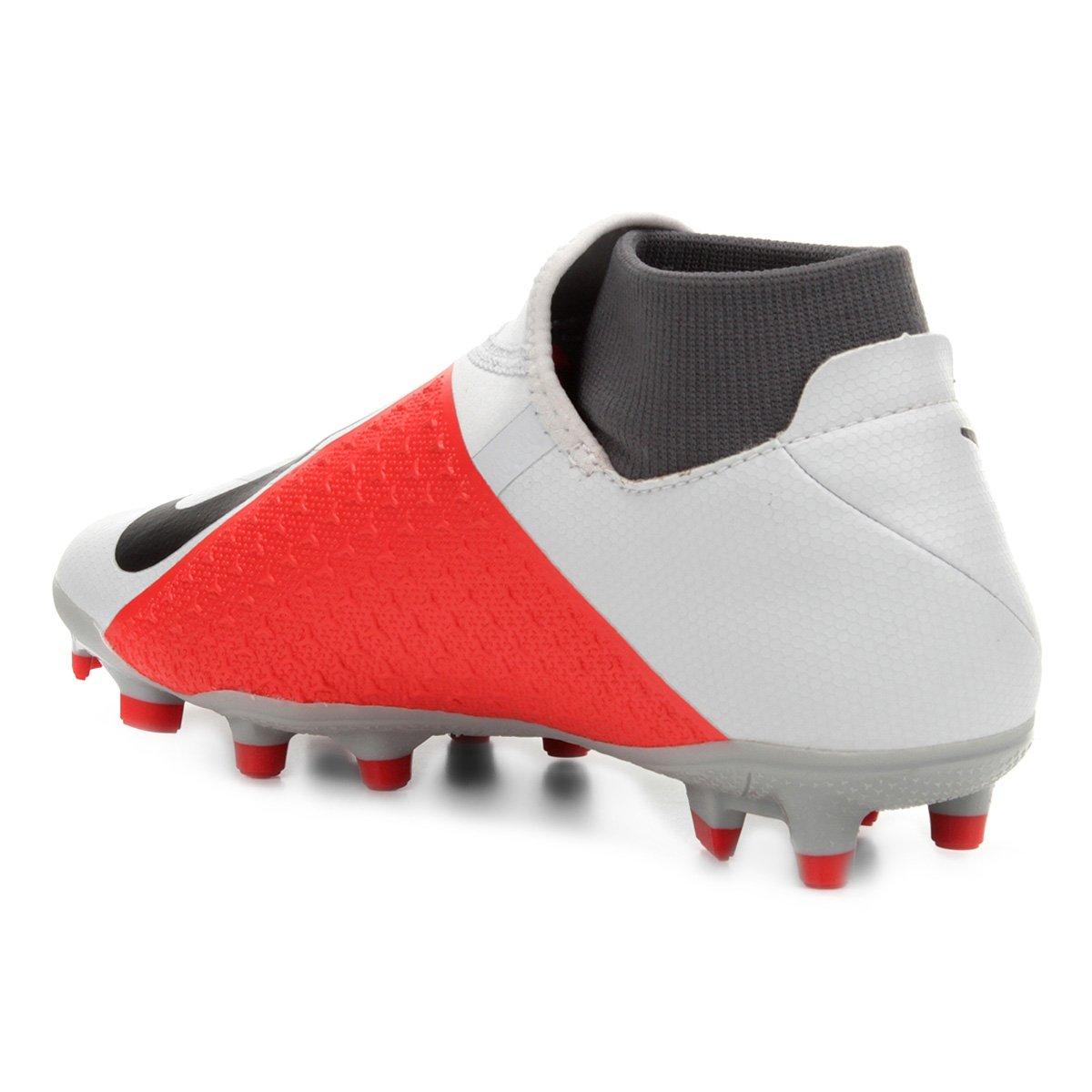 6be60fdc34 Chuteira Campo Nike Phantom Vision Academy DF FG - Cinza - Compre ...