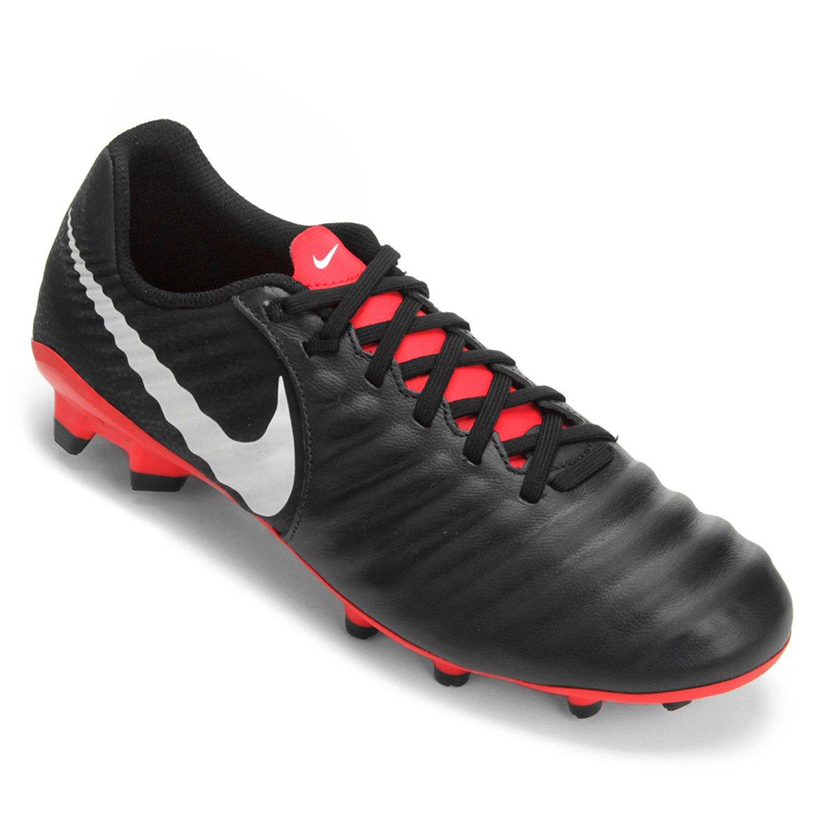 premium selection ebdc5 3d9f3 Chuteira Campo Nike Tiempo Legend 7 Academy FG - Preto