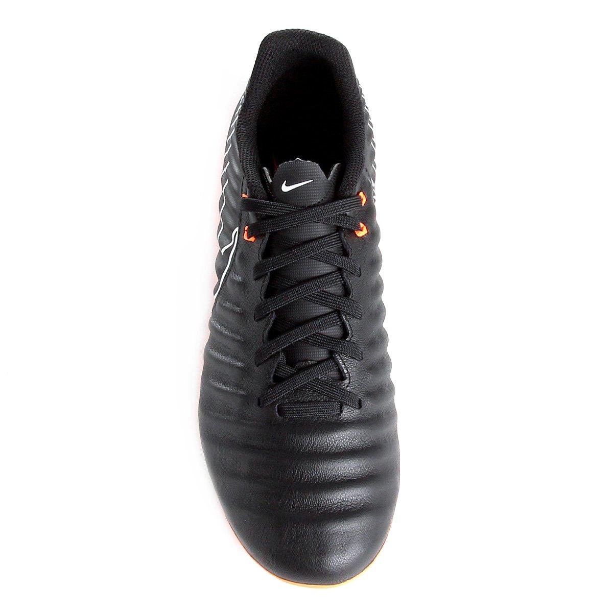 Chuteira Campo Nike Tiempo Legend 7 Academy FG - Preto e Laranja ... af561aeb9805c