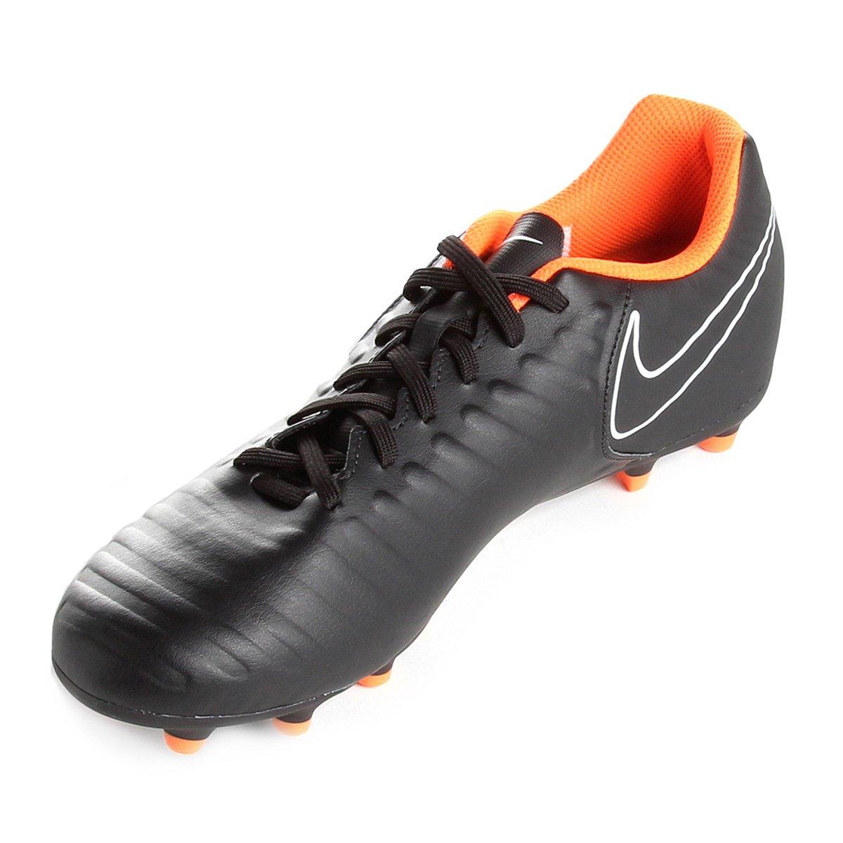 Chuteira Campo Nike Tiempo Legend 7 Club FG - Preto e Laranja ... e7cd7dc1b9ee7