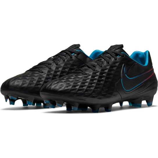 Chuteira Campo Nike Tiempo Legend 8 Pro - Azul+Preto