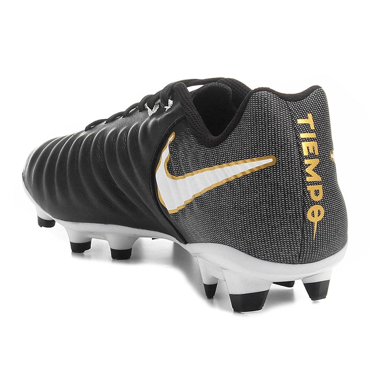 28e9d0c638 Chuteira Campo Nike Tiempo Ligera 4 FG - Preto e Branco - Compre ...