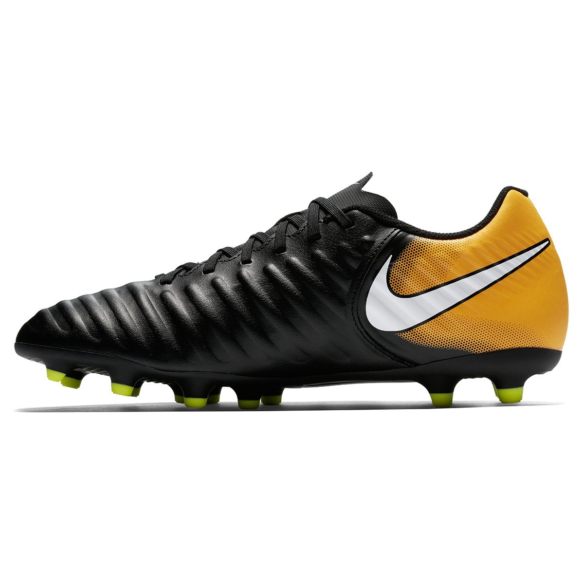 4bd861cadb Chuteira Campo Nike Tiempo Rio 4 FG - Preto e Laranja - Compre Agora ...