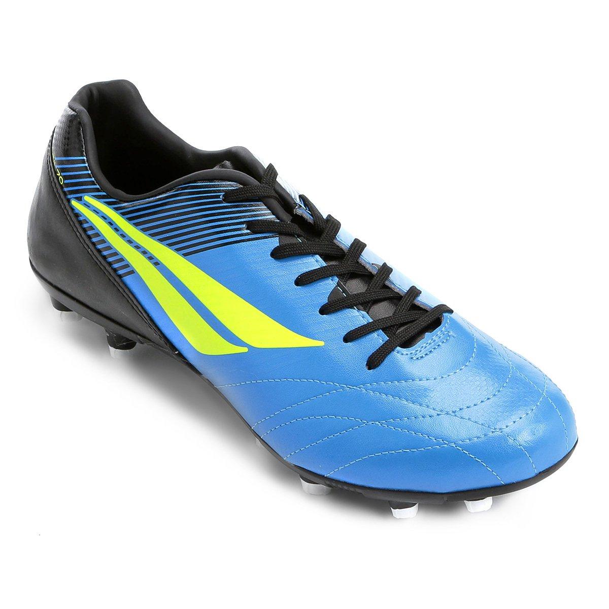Chuteira Campo Penalty Brasil 70 R2 VIII - Azul e Preto - Compre ... 89b06bebb5230