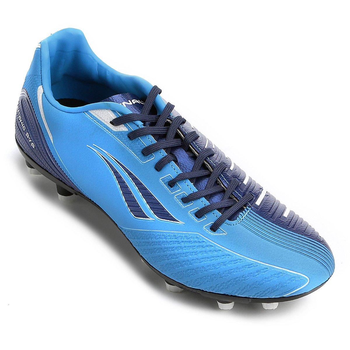 6cc19d4b7fe57 Chuteira Campo Penalty Digital VIII - Azul e Marinho - Compre Agora ...
