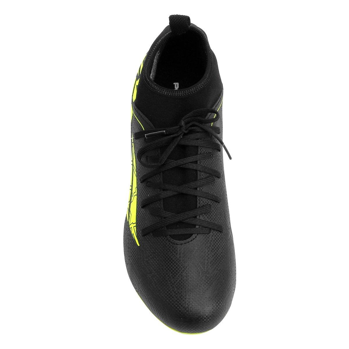 Chuteira Campo Penalty RX Locker VII - Preto e Amarelo - Compre ... da026ca2a80a0