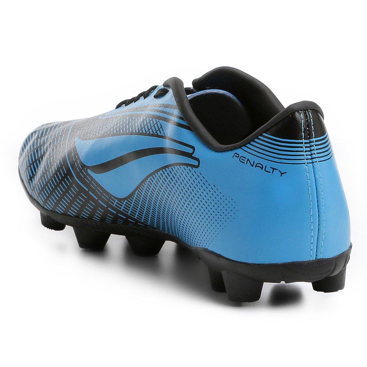 Chuteira Campo Penalty Storm Speed 7 - Preto e Azul - Compre Agora ... 6d523e4dc9521