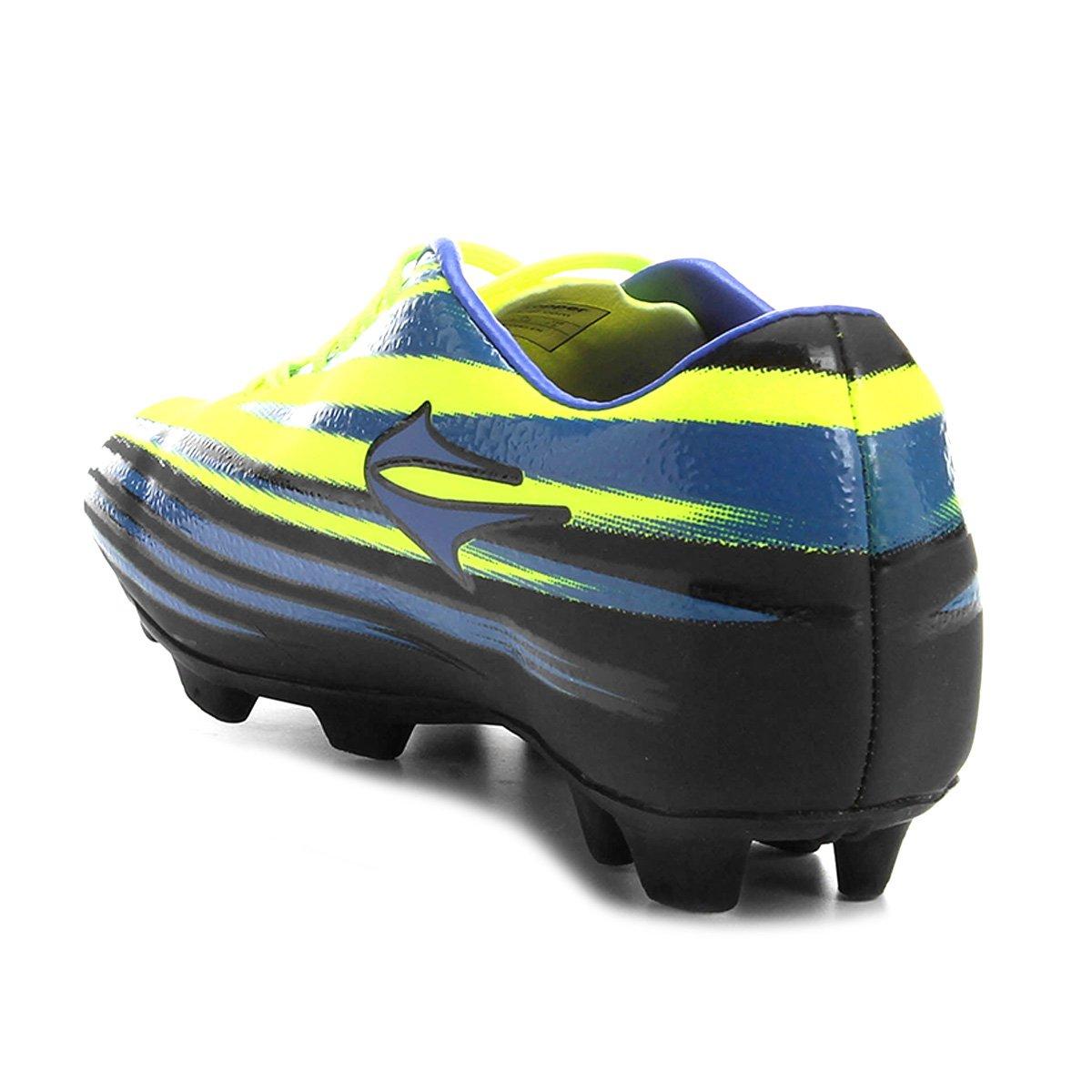Chuteira Campo Topper Vector 2 - Azul e Verde Limão - Compre Agora ... df6f5c791b230