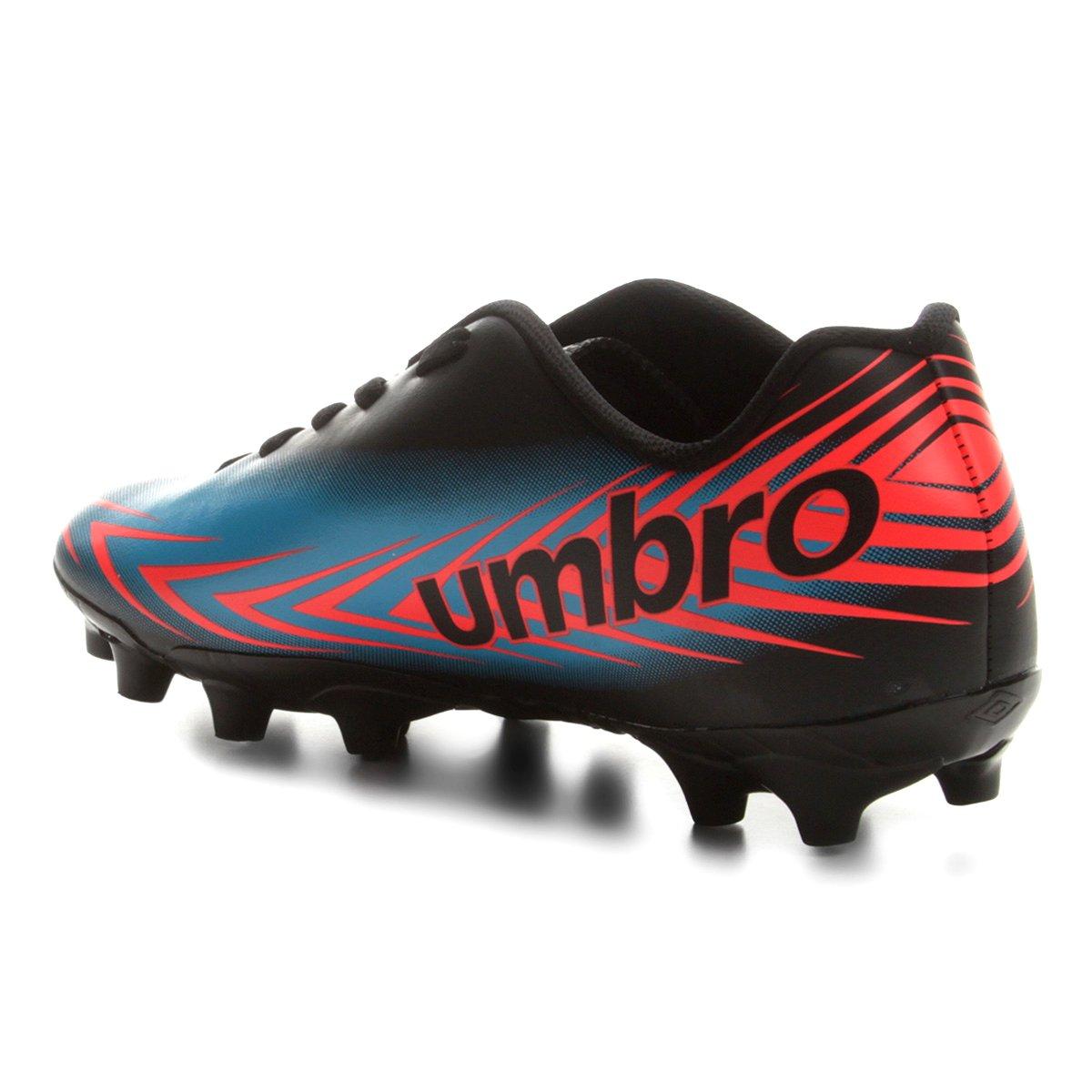 Chuteira Campo Umbro Speed III - Preto e Azul - Compre Agora  6c73cd1d6cdf5