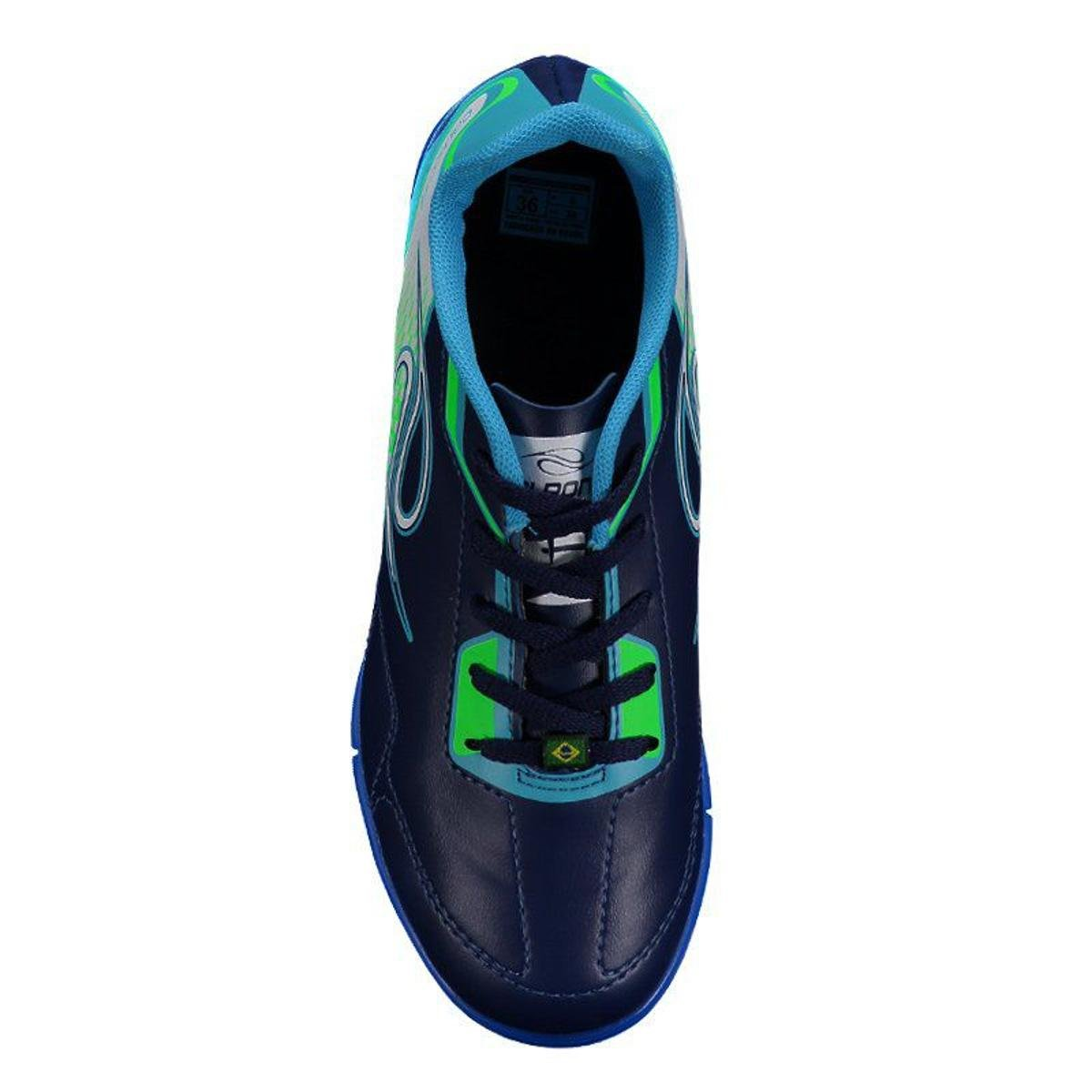 Chuteira Dalponte Class Society Juvenil - Azul - Compre Agora  1790e867446ce