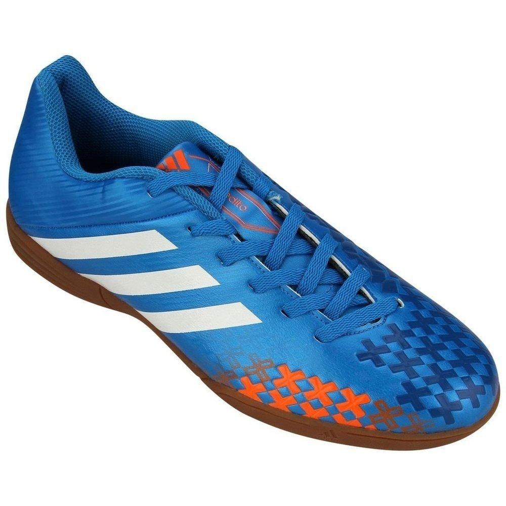 67728e3bf1147 ... low cost chuteira de futsal adidas predito lz in azul dc569 17001