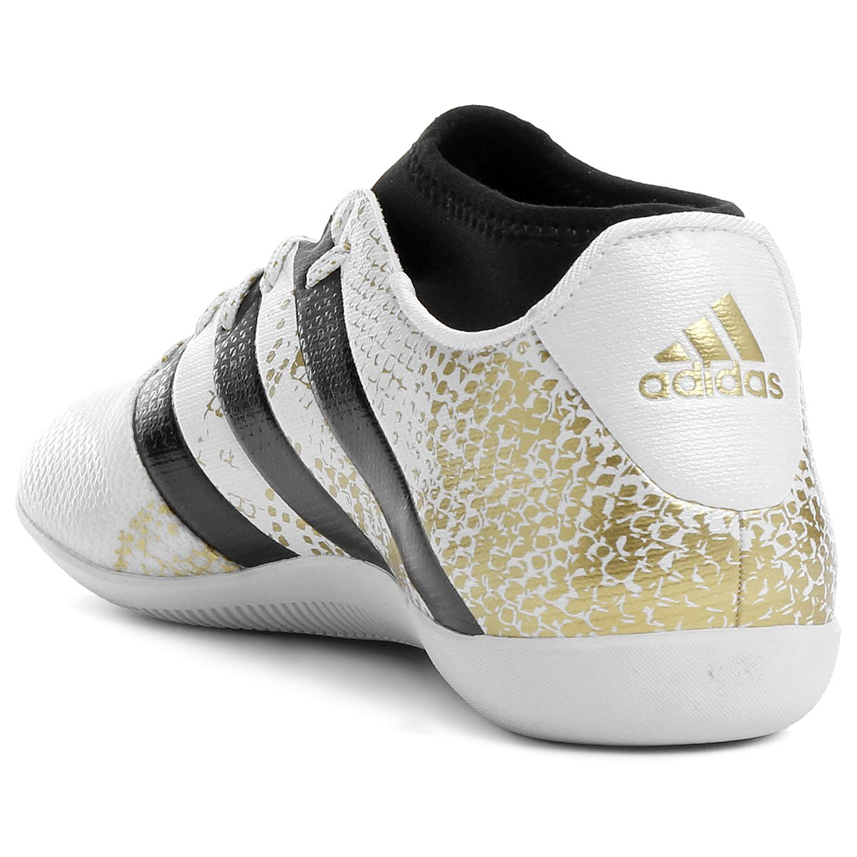 Chuteira Futsal Adidas Ace 16.3 Primemesh IN Masculina - Branco e ... 8e5c3bcffa1ce