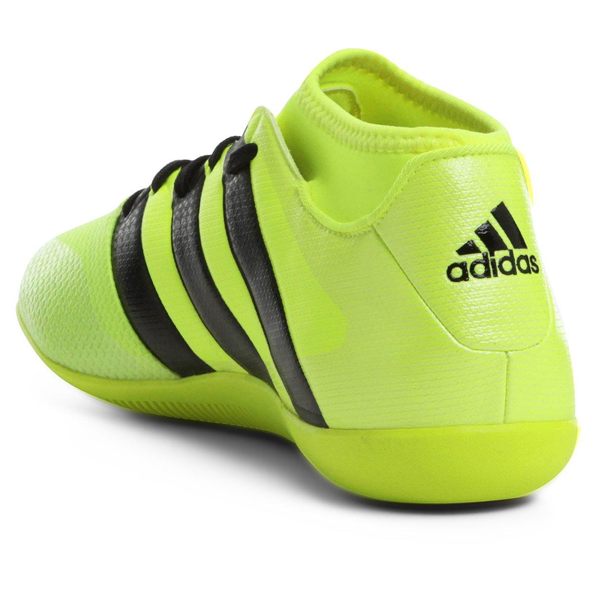 539275611c Chuteira Futsal Adidas Ace 16.3 Primemesh IN Masculina - Verde Limão ...