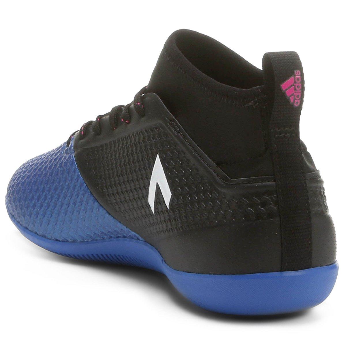 Chuteira Futsal Adidas Ace 17 3 IN Masculina Preto e Azul Compre 1e267f44718c7