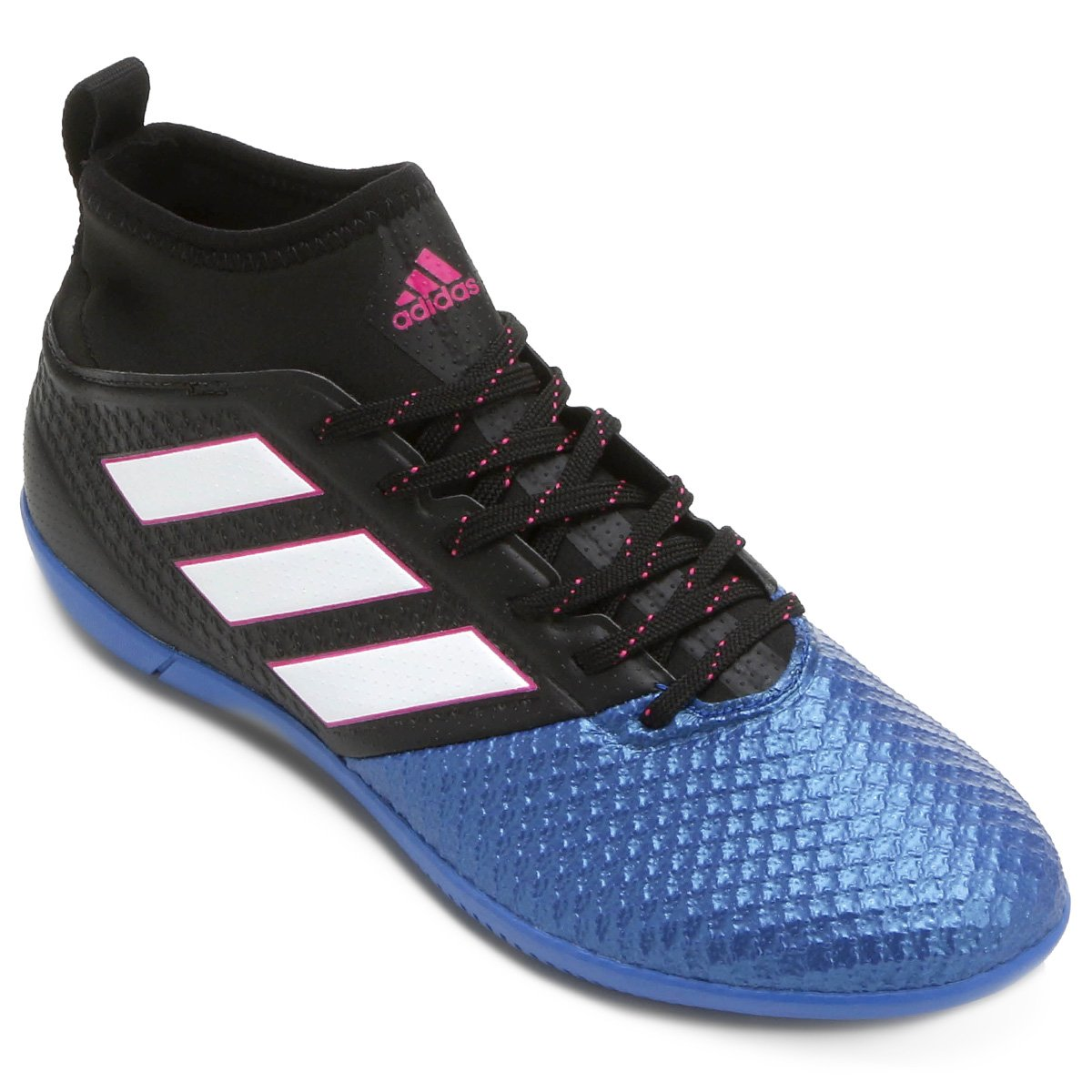 ba9f7372ea1d7 Chuteira Futsal Adidas Ace 17.3 IN - Preto e Azul - Compre Agora ...