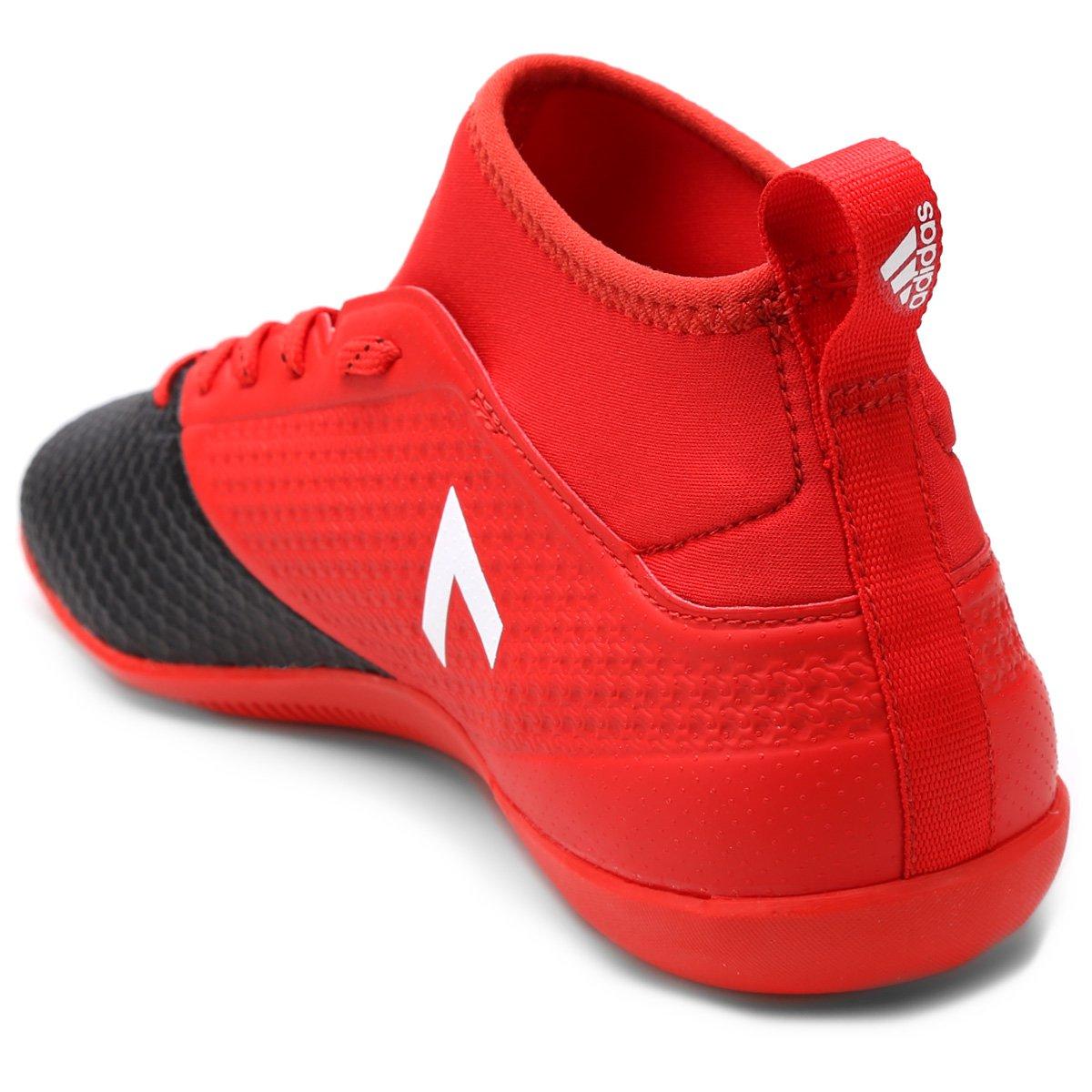 Chuteira Futsal Adidas Ace 17.3 IN - Vermelho e Preto - Compre Agora ... 2d96854cd733f