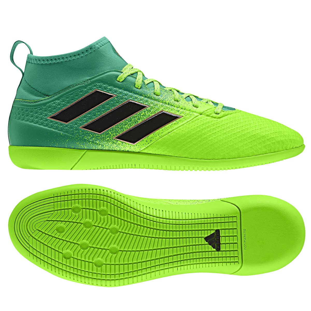 622feade9e Chuteira Futsal Adidas Ace 17.3 IN - Verde e Preto