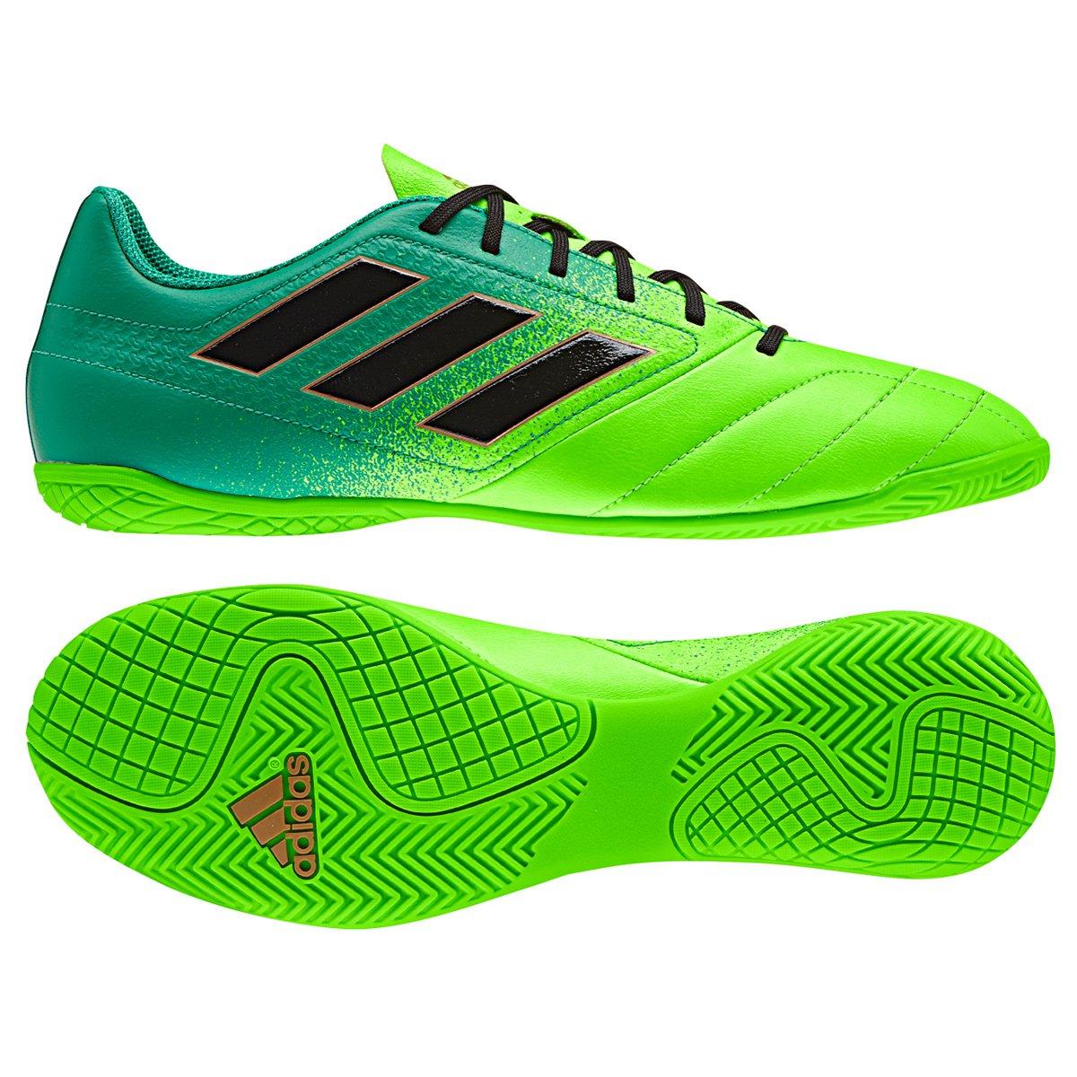 Chuteira Futsal Adidas Ace 17.4 IN - Verde e Preto - Compre Agora ... 66fb745ab1c34