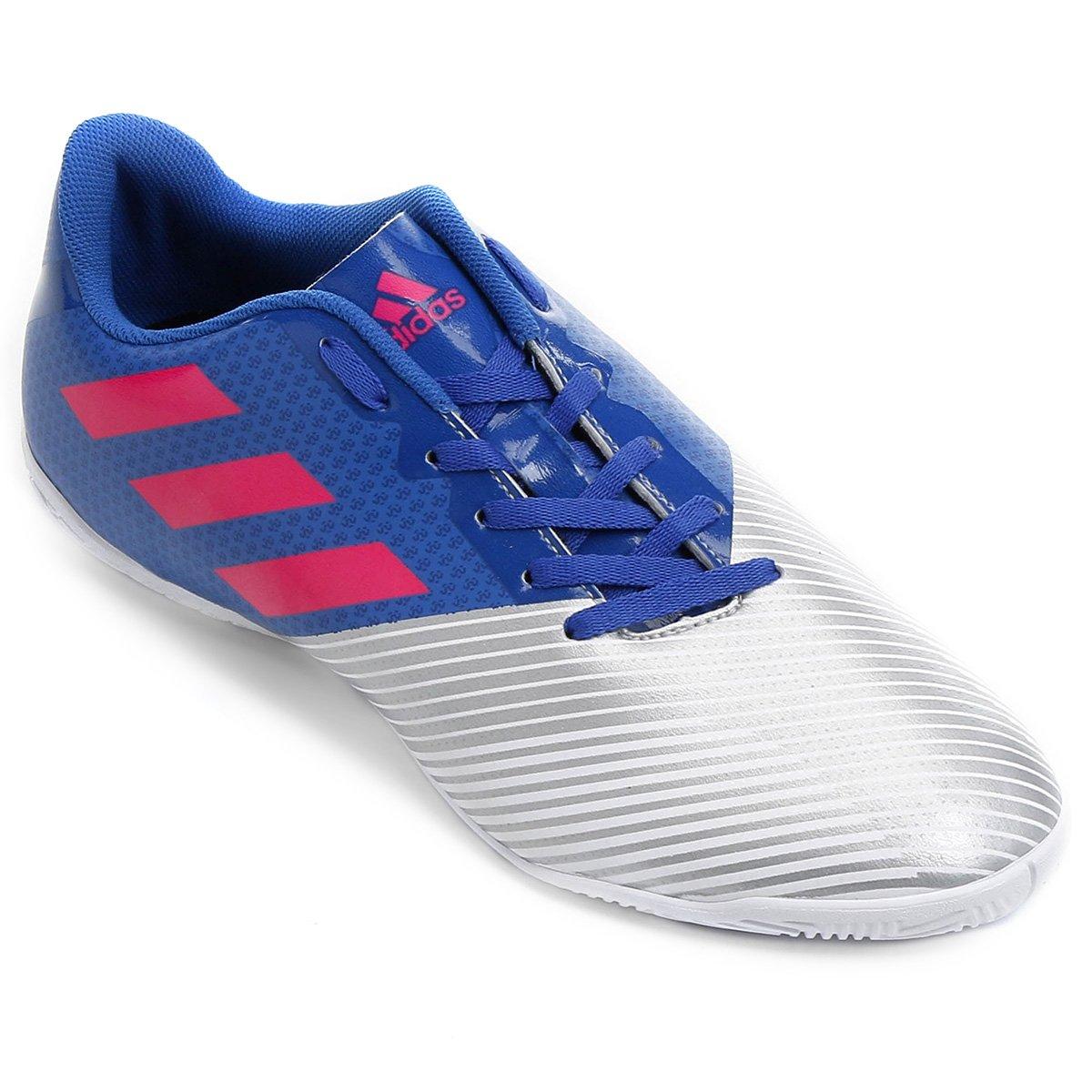 Chuteira Futsal Adidas Artilheira 17 IN - Azul e Prata - Compre ... f0e9ba6c67a37