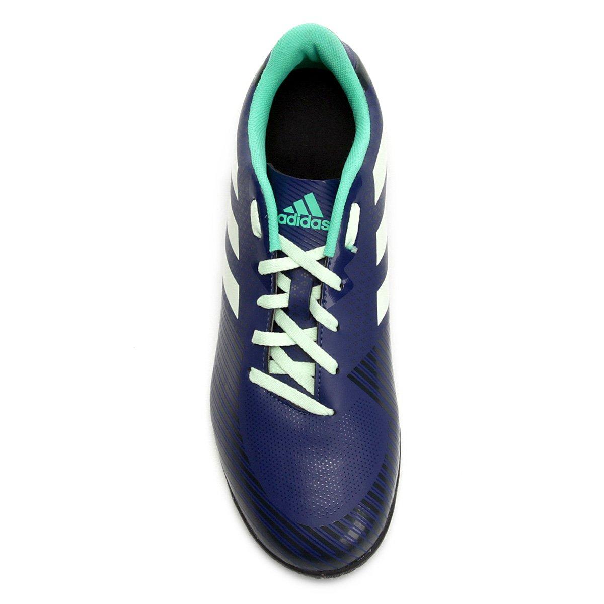 459ca65b97 Chuteira Futsal Adidas Artilheira 18 IN - Azul e Verde - Compre ...