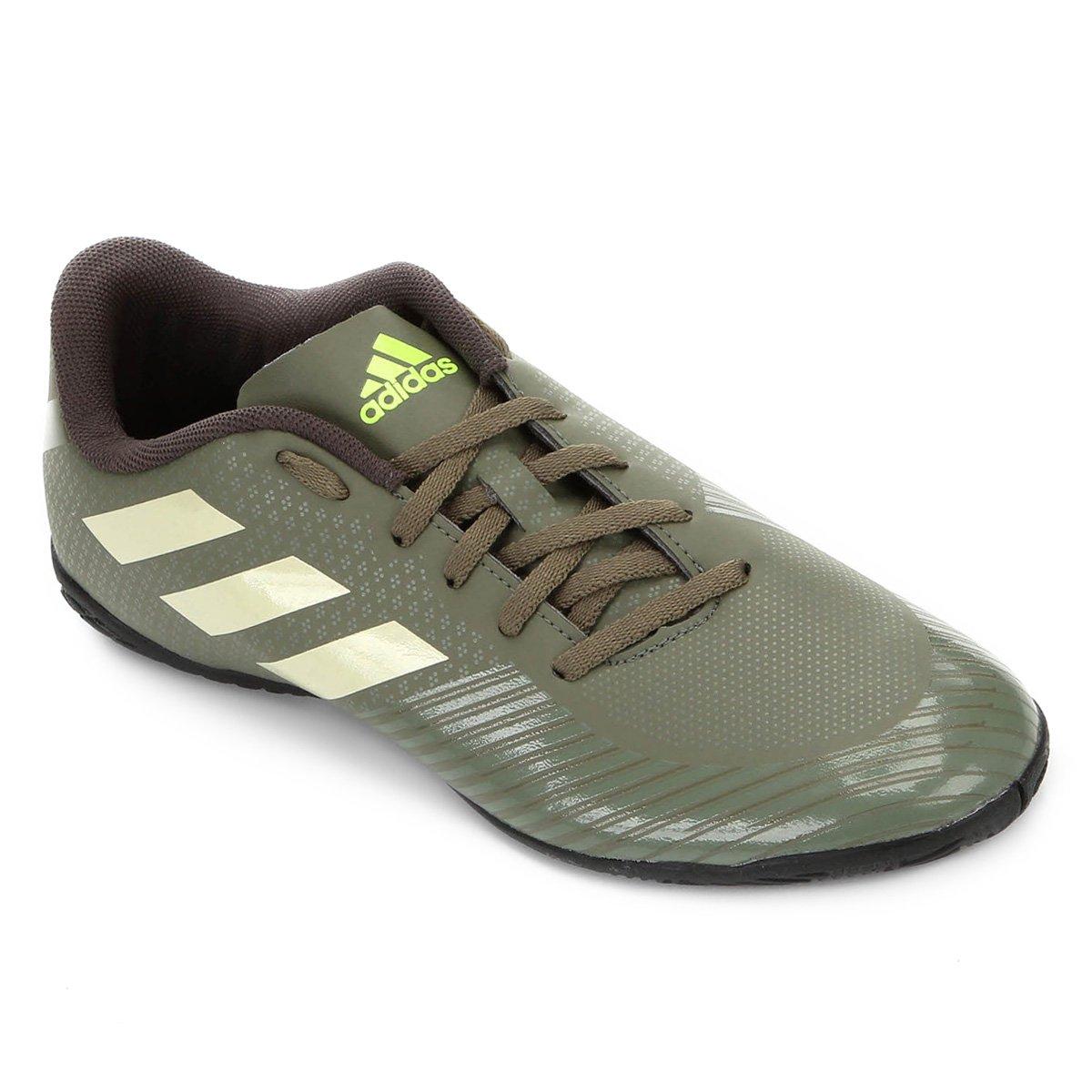 Chuteira Futsal Adidas Artilheira III IN - Verde e Preto