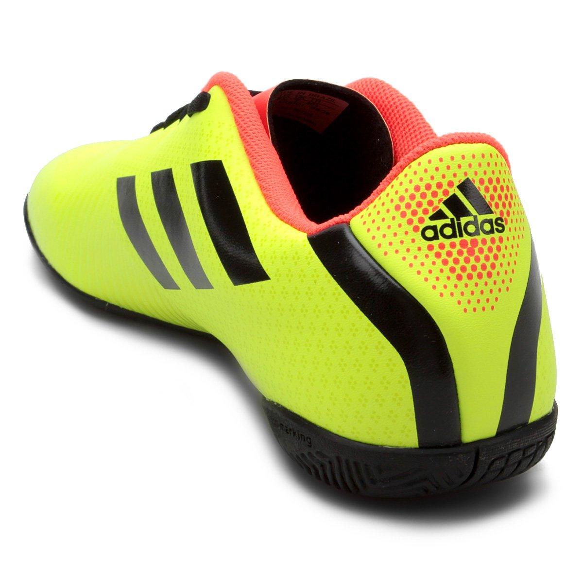 Chuteira Futsal Adidas Artilheira III IN - Amarelo e Preto - Compre ... cef2bc321d0f8