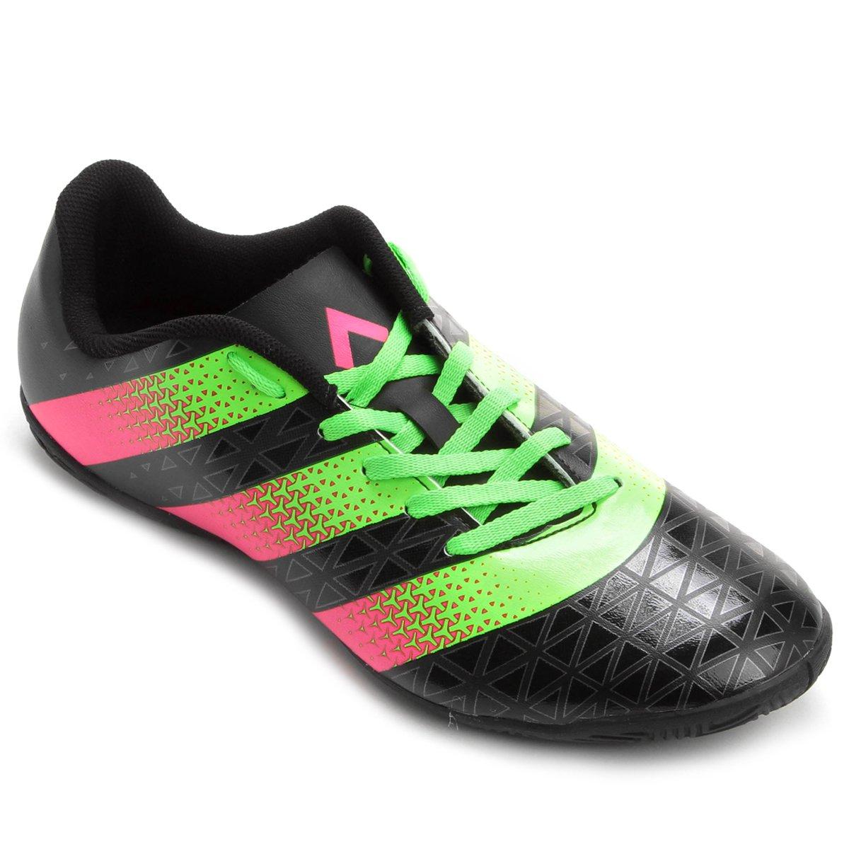Chuteira Futsal Adidas Artilheira IN - Preto e Verde Claro - Compre ... a5361c4ae43e9
