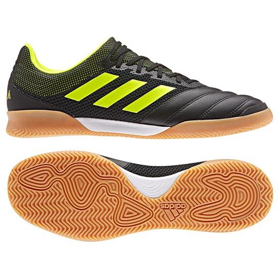 reinado Basura Ciudadanía  Chuteira Futsal Adidas Copa 19 3 IN - Preto e Verde Limão   Netshoes