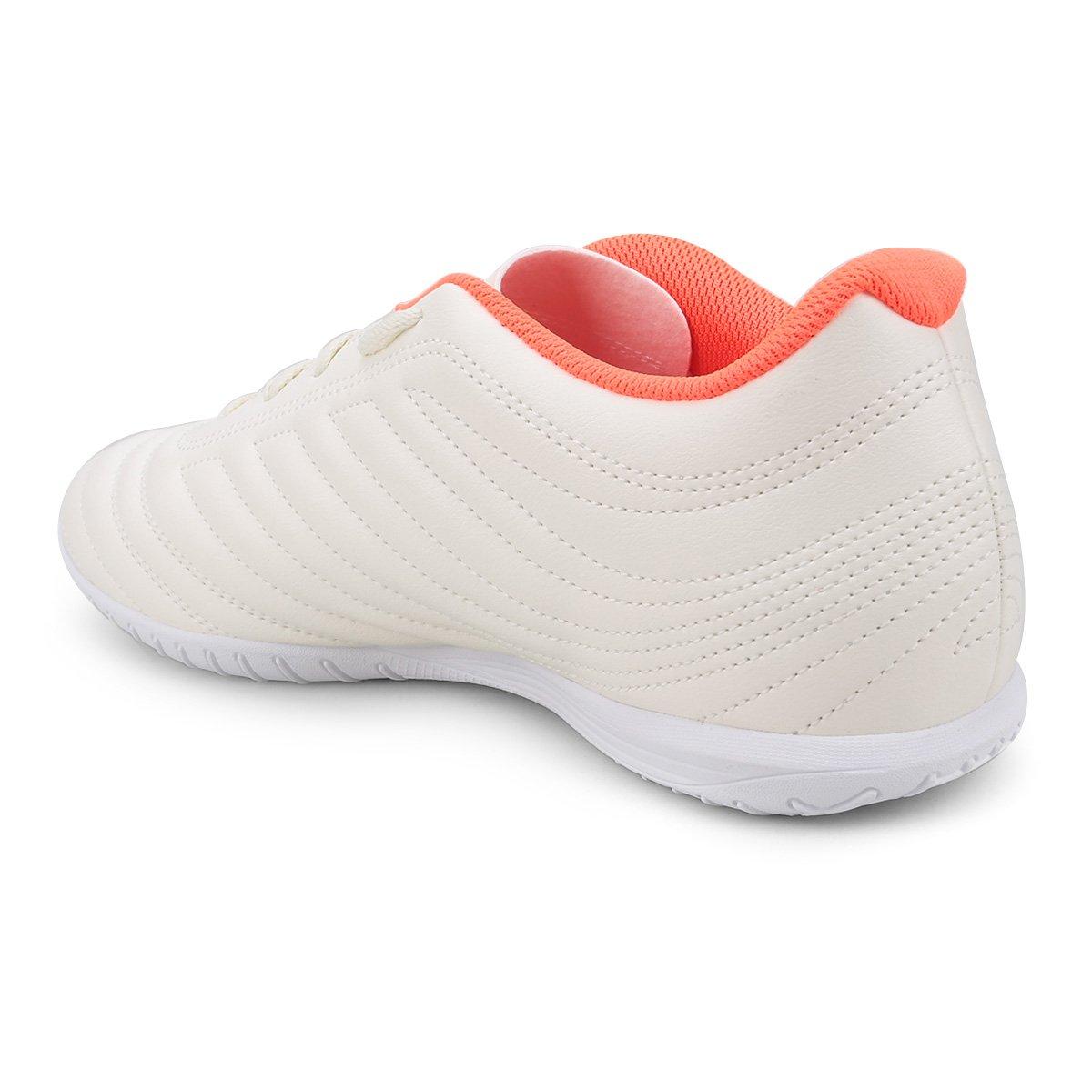 Chuteira Futsal Adidas Copa 19 4 IN - Branco e Vermelho - Compre ... 58367ee77cc76