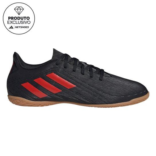 Chuteira Futsal Adidas Deportivo - Exclusiva - Preto+Vermelho
