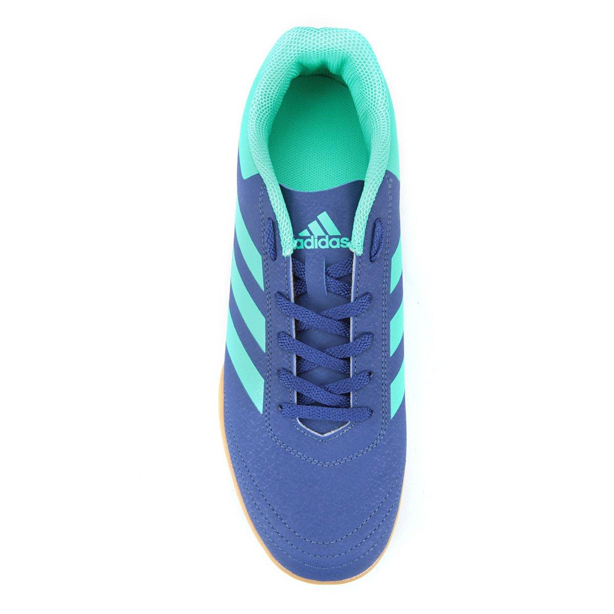 07b7058e6f Chuteira Futsal Adidas Goletto VI - Azul e Verde - Compre Agora ...