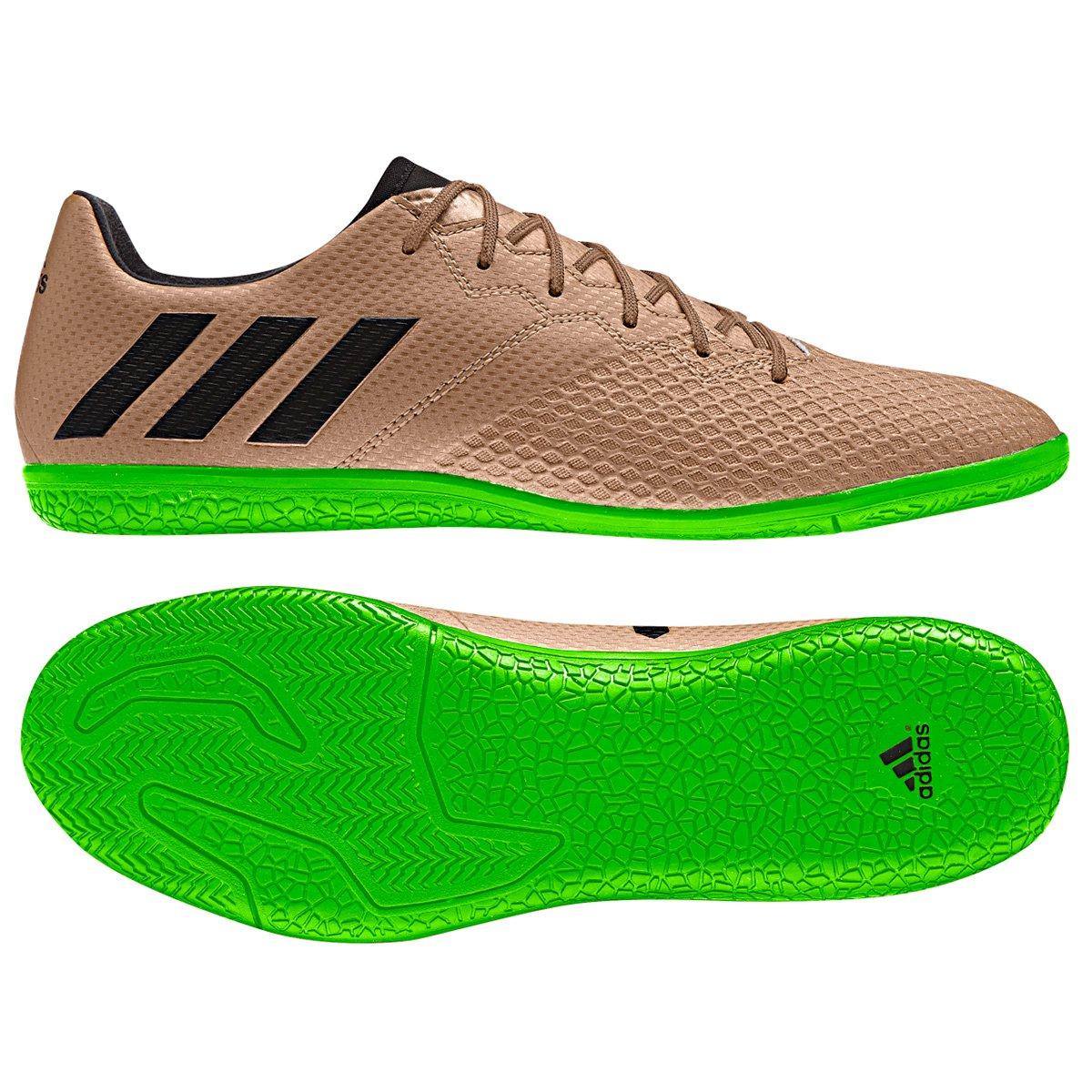 28e600bc2ff2c Chuteira Futsal Adidas Messi 16.3 IN Masculina - Bronze e Preto - Compre  Agora