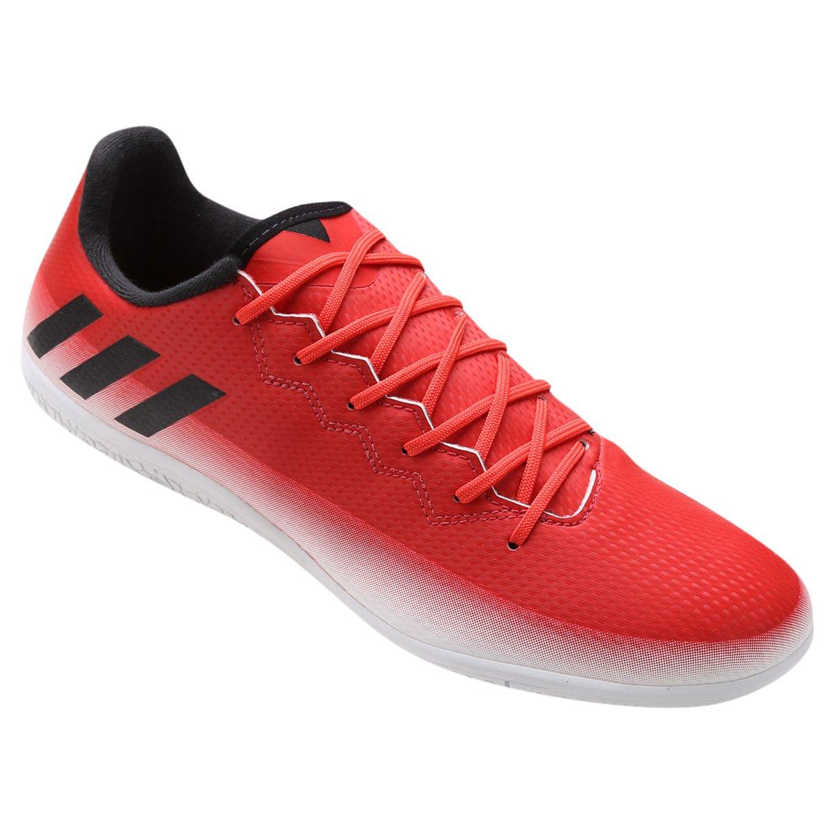 a76cd46969 Chuteira Futsal Adidas Messi 16.3 IN - Vermelho e Branco - Compre ...