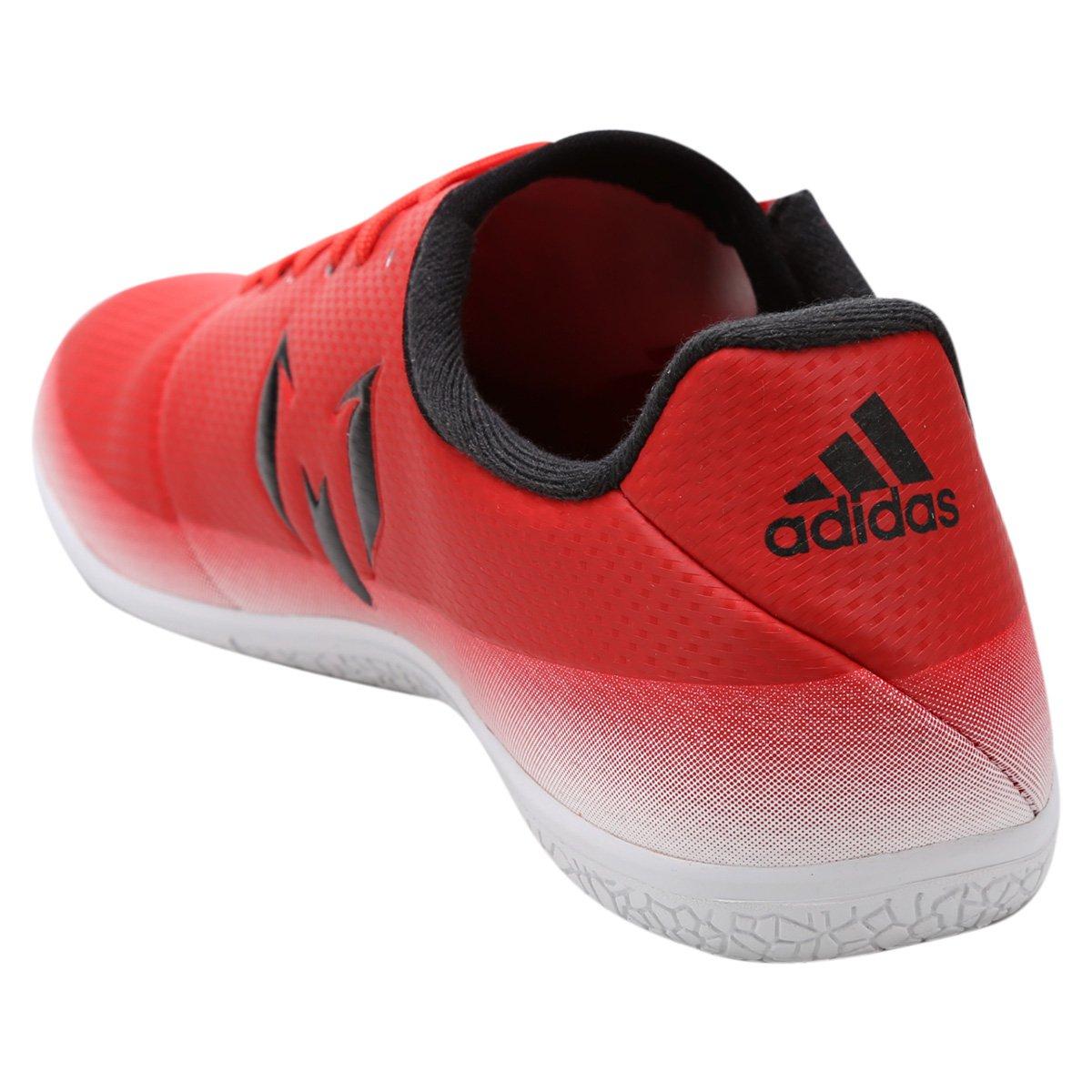 Chuteira Futsal Adidas Messi 16.3 IN - Vermelho e Branco - Compre ... eb688b0f551a2