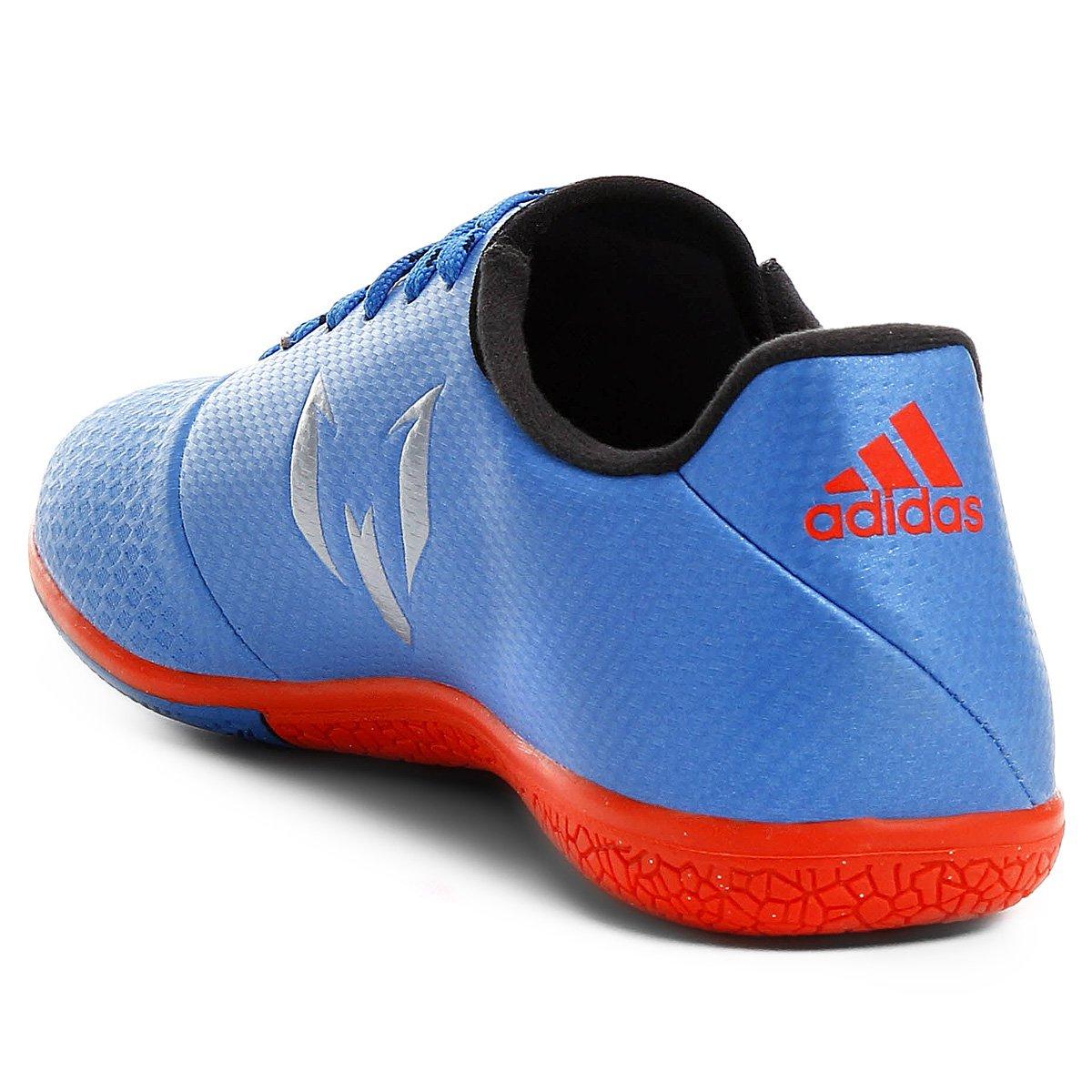 6832b2fe88 Chuteira Futsal Adidas Messi 16.3 IN - Azul e Prata - Compre Agora ...