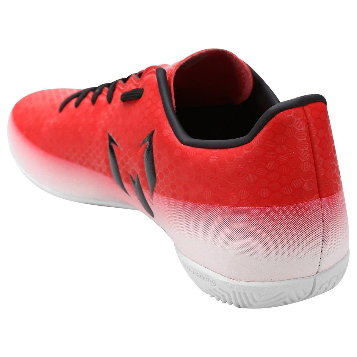 Chuteira Futsal Adidas Messi 16.4 IN Masculina - Vermelho e Branco ... 6414f57ceea4d
